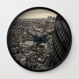 London from the 39th floor Wall Clock