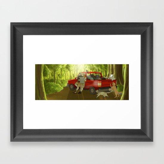Long weekend Framed Art Print