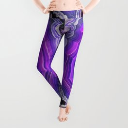 Violet and pink agate Leggings