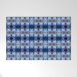 snowflake in blue 8 pattern Welcome Mat