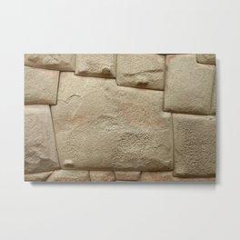 Inca Stone of 12 Angles in Cusco Peru Metal Print