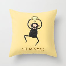 Chimpion Throw Pillow