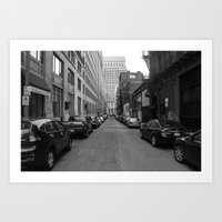 alleyways. Art Print