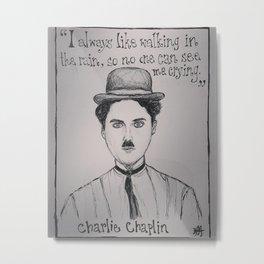 (Charlie Chaplin - Comic) - yks by ofs珊 Metal Print