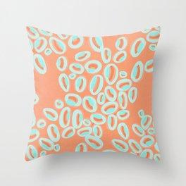 Abstract Melon Throw Pillow