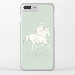 Eventing in green Clear iPhone Case