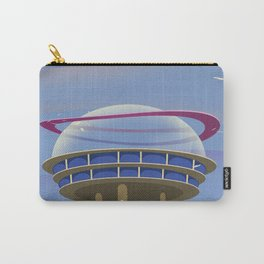 Fly to the Future retro poster Carry-All Pouch