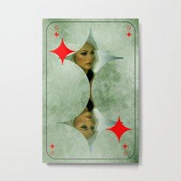 queen of diamonds -2- Metal Print