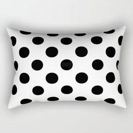 Polka Dots (Black/White) Rectangular Pillow