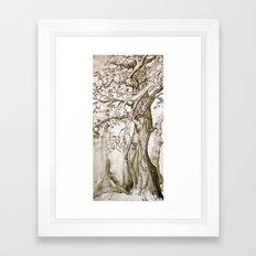 A Weary Wood Framed Art Print