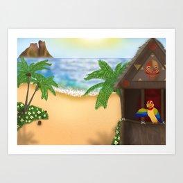 """Welcome to Polynesian Paradise"" Art Print"
