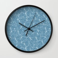 Butterfly Blues Wall Clock