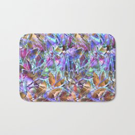 Floral Abstract Stained Glass G268 Bath Mat