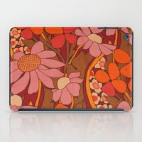 50s iPad Cases featuring Crazy pinks 50s Flower  by Follow The White Rabbit