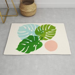 Abstraction_FLORAL_NATURE_Minimalism_001 Rug