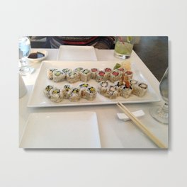 Sushi Dinner Date Metal Print