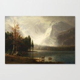 Albert Bierstadt Estes Park Colorado Whyte's Lake Canvas Print