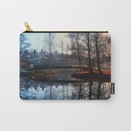 A bridge, the river and reflections | waterscape photography Carry-All Pouch