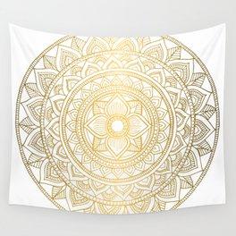 Gold Bali Mandala Wall Tapestry