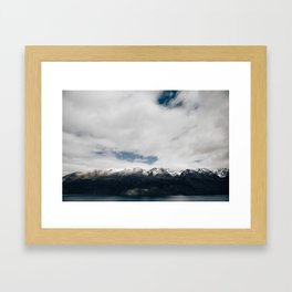 New Zealand Mountains Framed Art Print