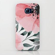 Big Watercolor Flowers Slim Case Galaxy S6