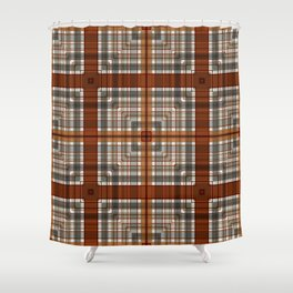 Multi Square Tile Pattern Design Shower Curtain