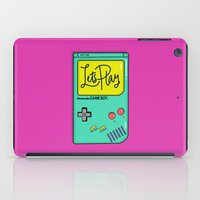gameboy iPad Cases featuring Let's Play GameBoy by Chelsea Herrick