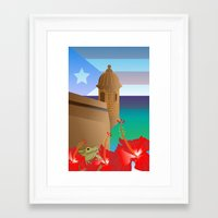 puerto rico Framed Art Prints featuring Puerto Rico by PADMA DESIGNS PR