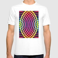 Waves Mens Fitted Tee MEDIUM White