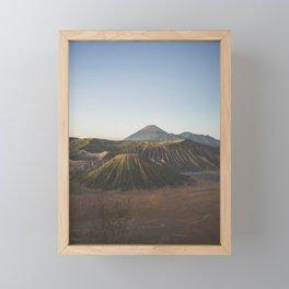 Mount Bromo, Podokoyo, Pasuruan, East Java, Indonesia Framed Mini Art Print