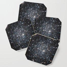 Stars : subtle black blue gold Coaster