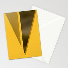 Modern Art Minimalist Geometric In Yellow Stationery Cards