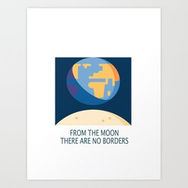 No Borders Art Print
