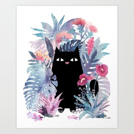 Popoki (Pastel) Art Print