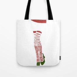 Miss Santa Legs Tote Bag