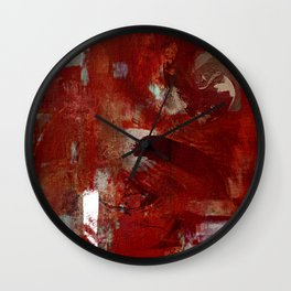 Burgundy Wall Clock