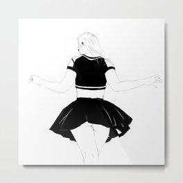 skirt commando Metal Print