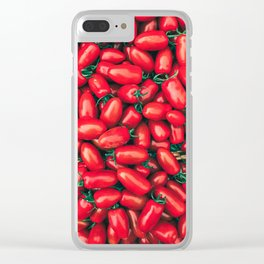 Tomatoe Tomato Clear iPhone Case