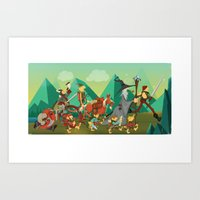 lord of the rings Art Prints featuring Lord Of The Rings by O'Banion Art