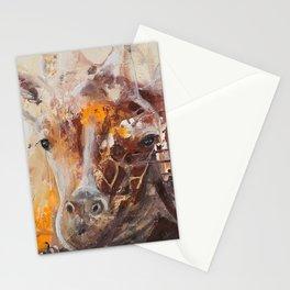 "Giraffe - Animal - ""Presence"" by LiliFlore Stationery Cards"