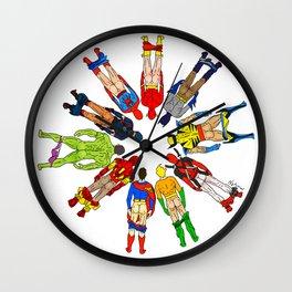 Superhero Butts Wall Clock