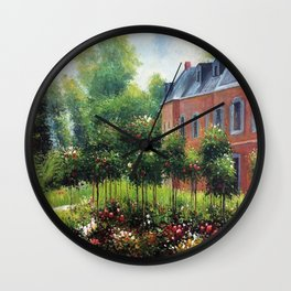 Pierre-Auguste Renoir's The Rose Garden at Wargemont Wall Clock