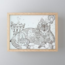 Maghreb cat (2) Framed Mini Art Print