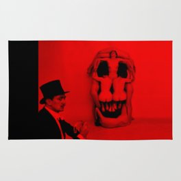 Salvador Dali with Women Skull (Photographic Art) Rug