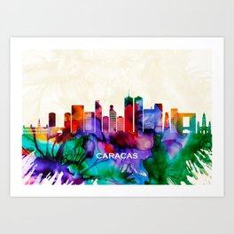 Caracas Skyline Art Print