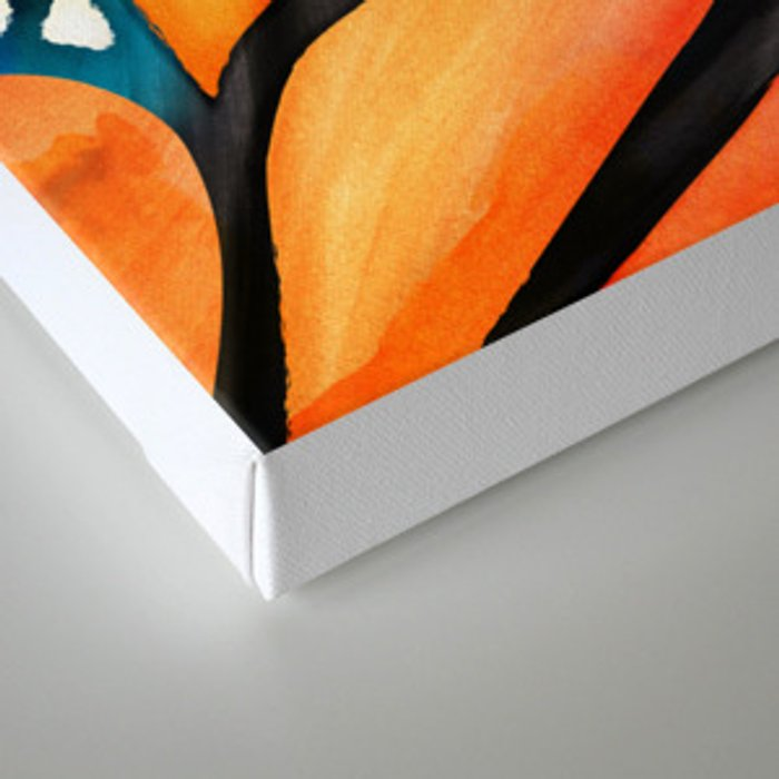 Monarch Butterfly Wings Watercolor Abstract Canvas Print