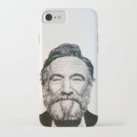 robin williams iPhone & iPod Cases featuring Robin Williams by feralsister