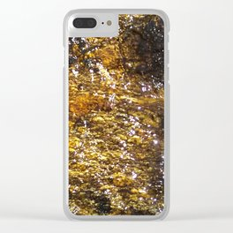 Water On Dark Stone Clear iPhone Case