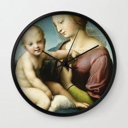 """Raffaello Sanzio da Urbino """"Large Cowper Madonna"""", 1508 Wall Clock"""