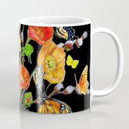 Black Butterfly Bouquet  Coffee Mug